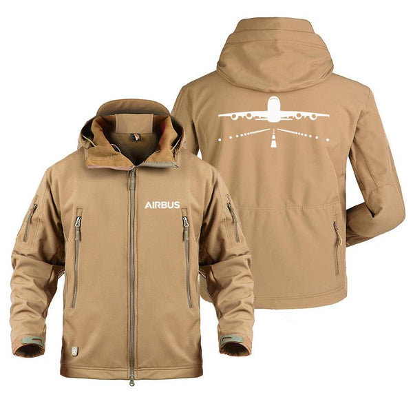 AIRBUS A380 RUNWAY DESIGNED MILITARY FLEECE - Sand / S -