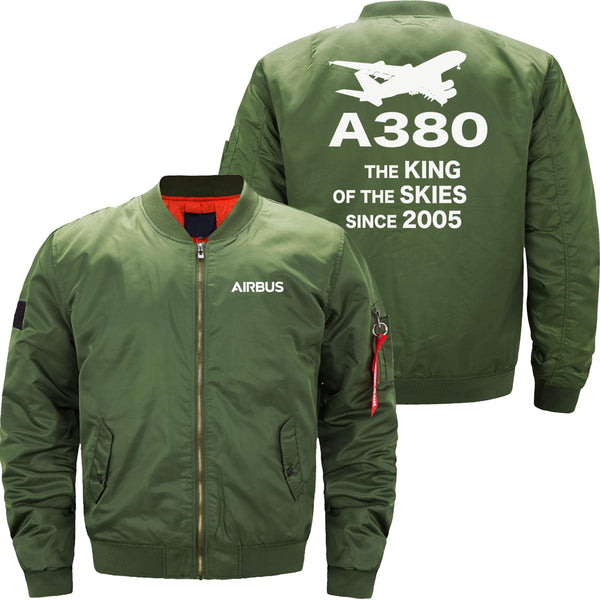 A380 THE KING OF THE SKIES SINCE 2005 DESIGNED - JACKET - THE AV8R