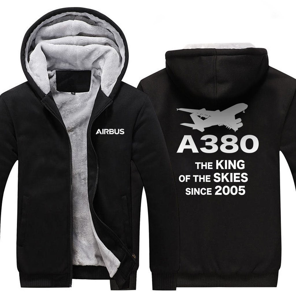 AIRBUS A380 THE KING OF THE SKIES SINCE 2005 ZIPPER SWEATERS