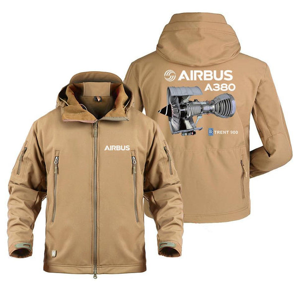 AIRBUS A380 TRENT 900 DESIGNED MILITARY FLEECE - Sand / S -