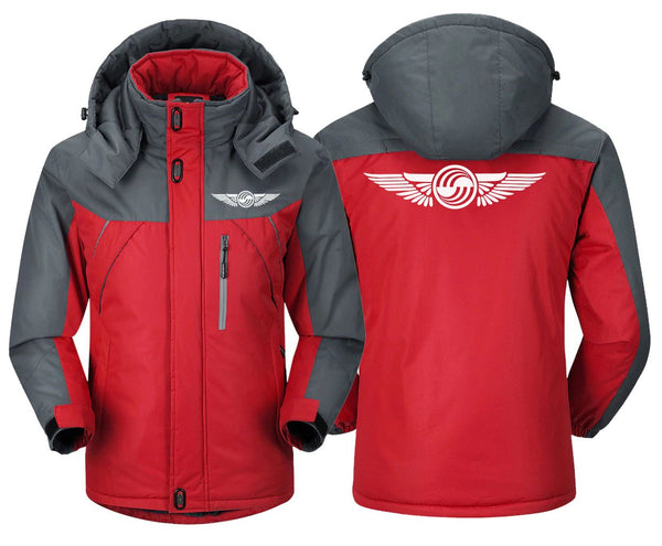 AIRBUS WING DESIGNED WINDBREAKER - Red Gray / XS -