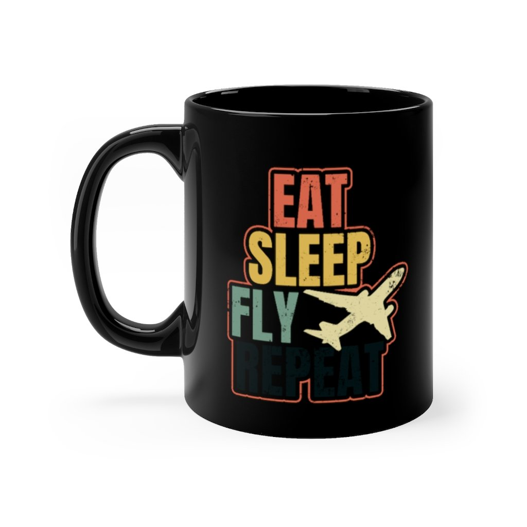AIRPLANE DESIGNED MUG - 11oz - Mug