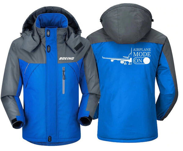 AIRPLANE MODE ON DESIGNED WINDBREAKER - Blue Gray / XS -