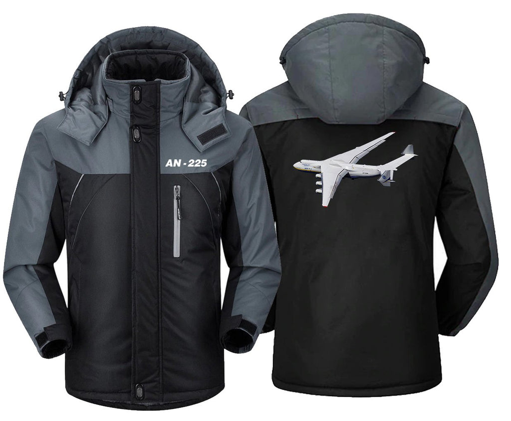 AN225 DESIGNED WINDBREAKER - Black Gray / XS - Windbreaker