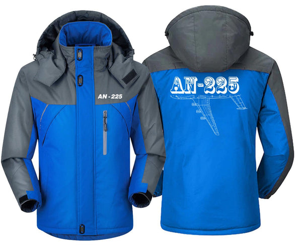 AN225 DESIGNED WINDBREAKER - Blue Gray / XS - Windbreaker