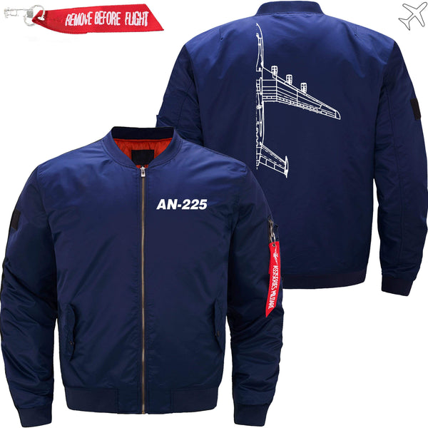 PilotX Jacket Dark blue thin / XS Antonov An-225 Cross section -US Size