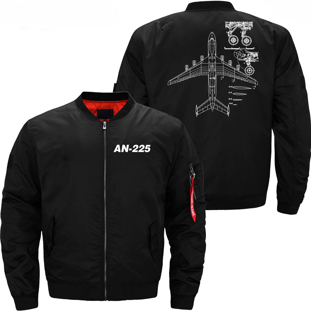 PilotX Jacket Black thin / XS Antonov An-225 With Parts -US Size