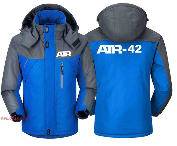 PILOTSX Windbreaker Jackets Blue Gray / S ATR-42  Jacket
