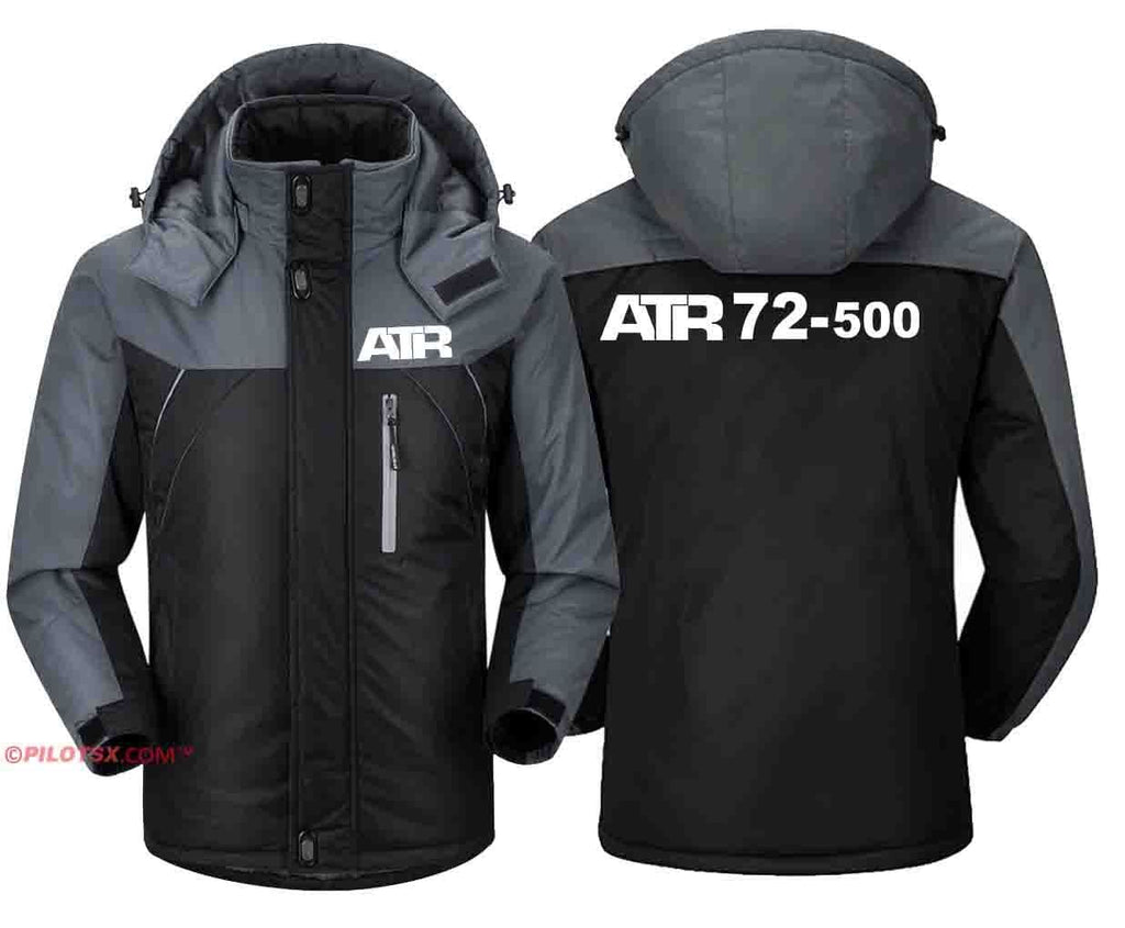 PILOTSX Windbreaker Jackets Black Gray / S ATR-72-500 jacket