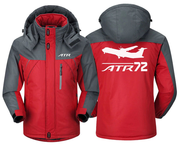 ATR 72 DESIGNED - Red Gray / S - Windbreaker Jackets