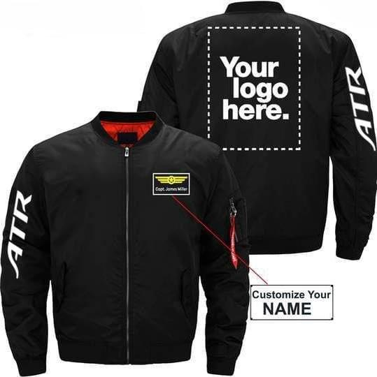 PilotX Jacket Black thin / XS ATR Custom Name & Logo Designed Jacket -US Size