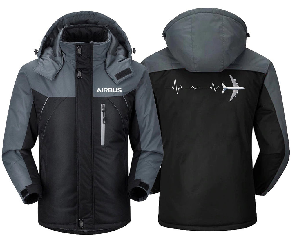 AVIATION HEART BEAT DESIGNED WINDBREAKER - Black Gray / XS -