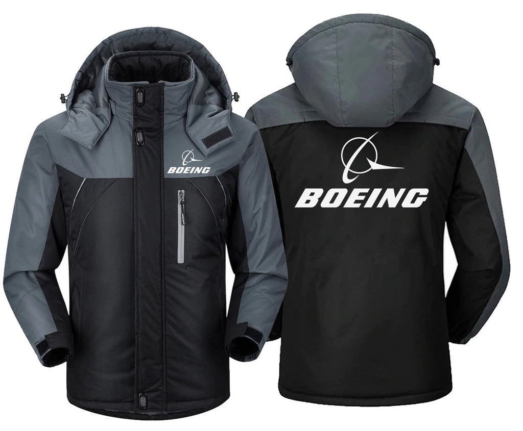 B LOGO DESIGNED WINDBREAKER - Black Gray / XS - Windbreaker