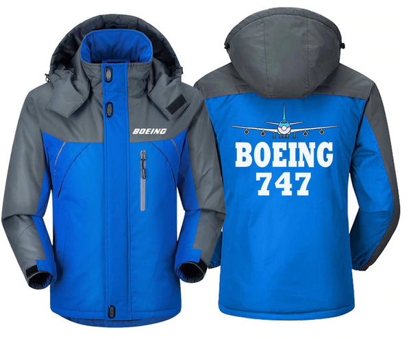 B0LNG 747 DESIGNED WINDBREAKER - Blue Gray / XS -