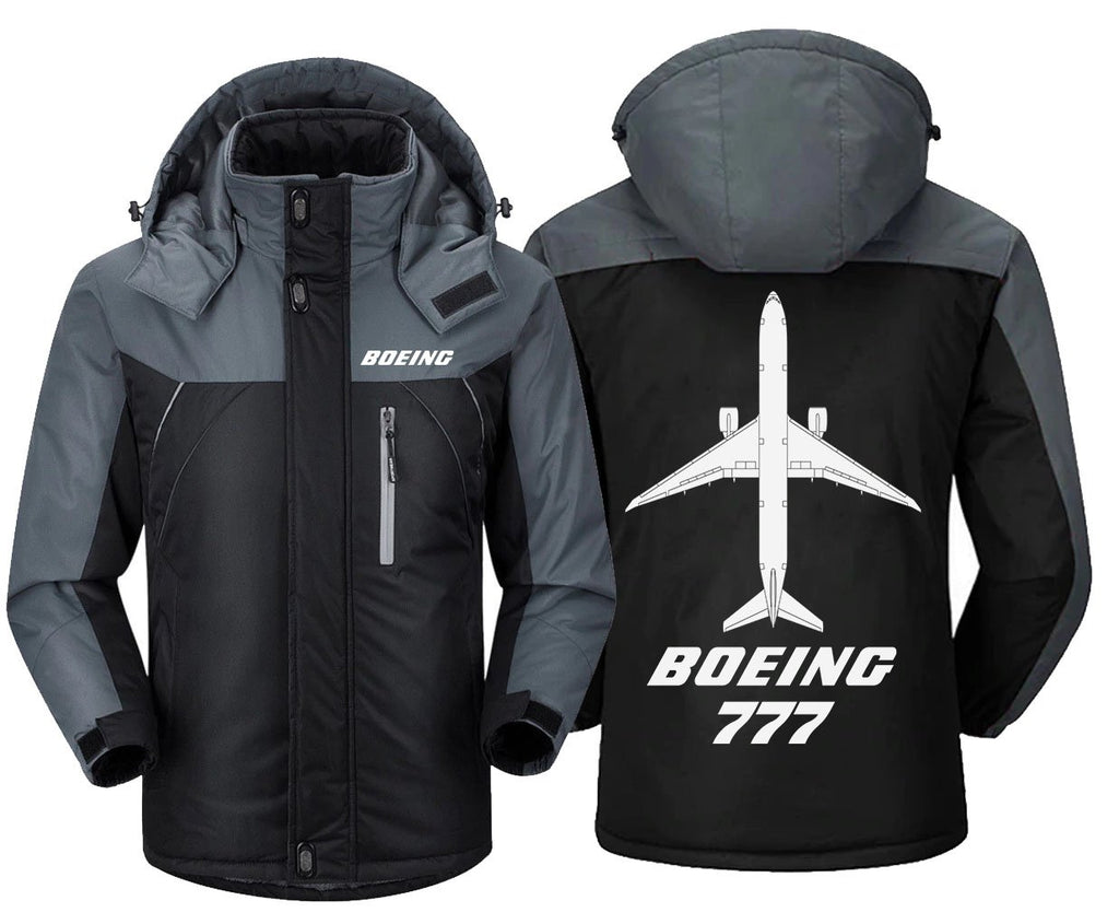 B0LNG 777 DESIGNED WINDBREAKER - Black Gray / XS -