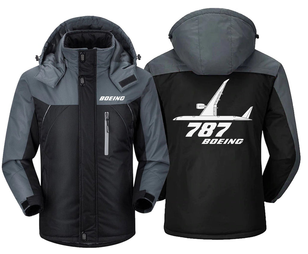 B0LNG 787 DESIGNED WINDBREAKER - Black Gray / XS -