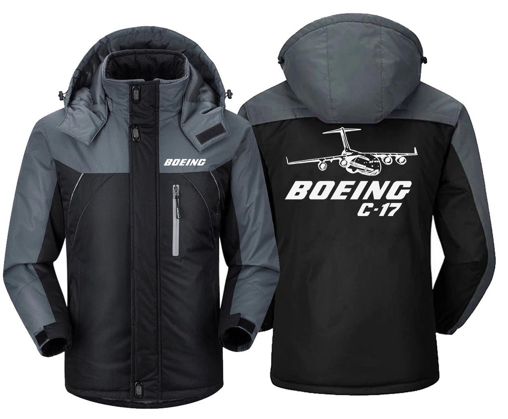 B0LNG C-17 DESIGNED WINDBREAKER - Black Gray / XS -