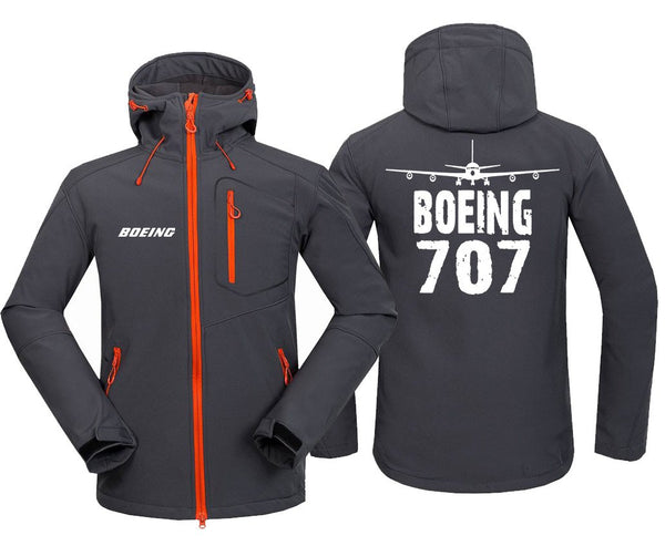B707 DESIGNED FLEECE - Dark Gray / S - Hoodie Jacket
