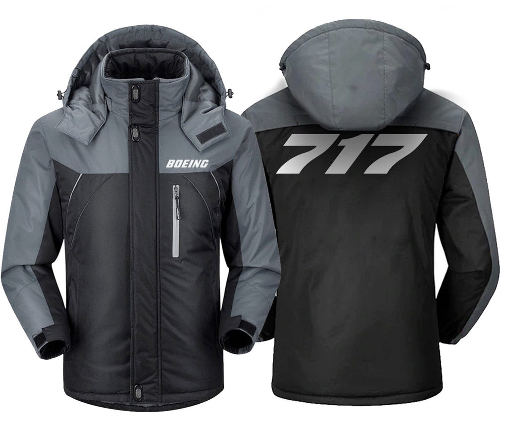 B717 DESIGNED WINDBREAKER - Black Gray / XS - Windbreaker