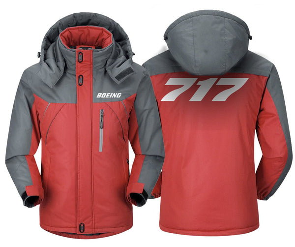 B717 DESIGNED WINDBREAKER - Red Gray / XS - Windbreaker