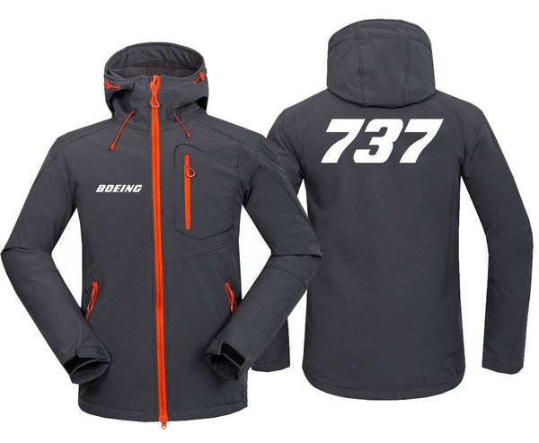 B737 DESIGNED FLEECE - Dark Gray / S - Hoodie Jacket