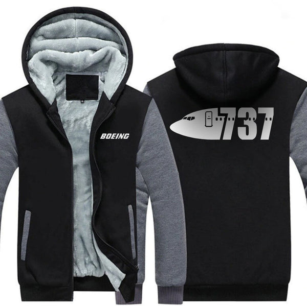 B737 DESIGNED ZIPPER SWEATER - Hoodies