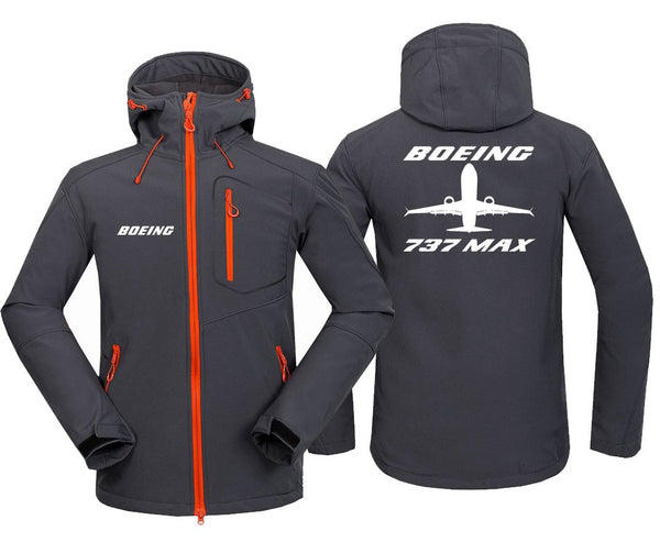 B737 MAX DESIGNED FLEECE - Dark Gray / S - Hoodie Jacket