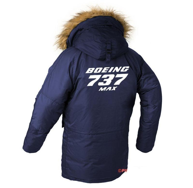 B737-MAX DESIGNED WINTER N3B PUFFER COAT - Dark blue / XS -