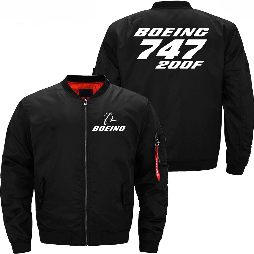 PilotX Jacket Black thin / XS Boeing 747-200F -US Size