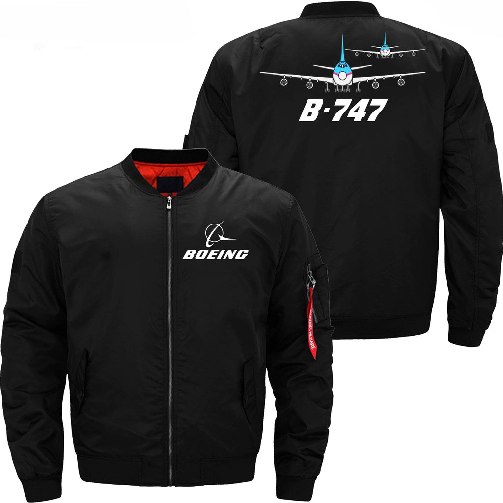 PilotX Jacket Black thin / XS Boeing 747 With Dabble Aircraft -US Size