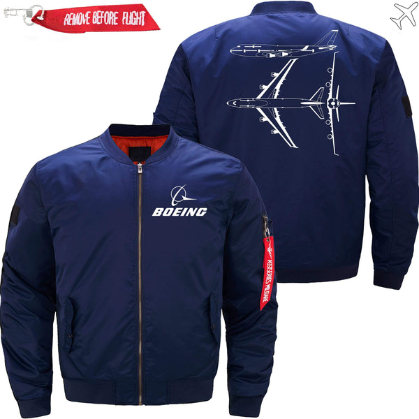 PilotX Jacket Dark blue thin / XS Boeing 747 Diagram View -US Size