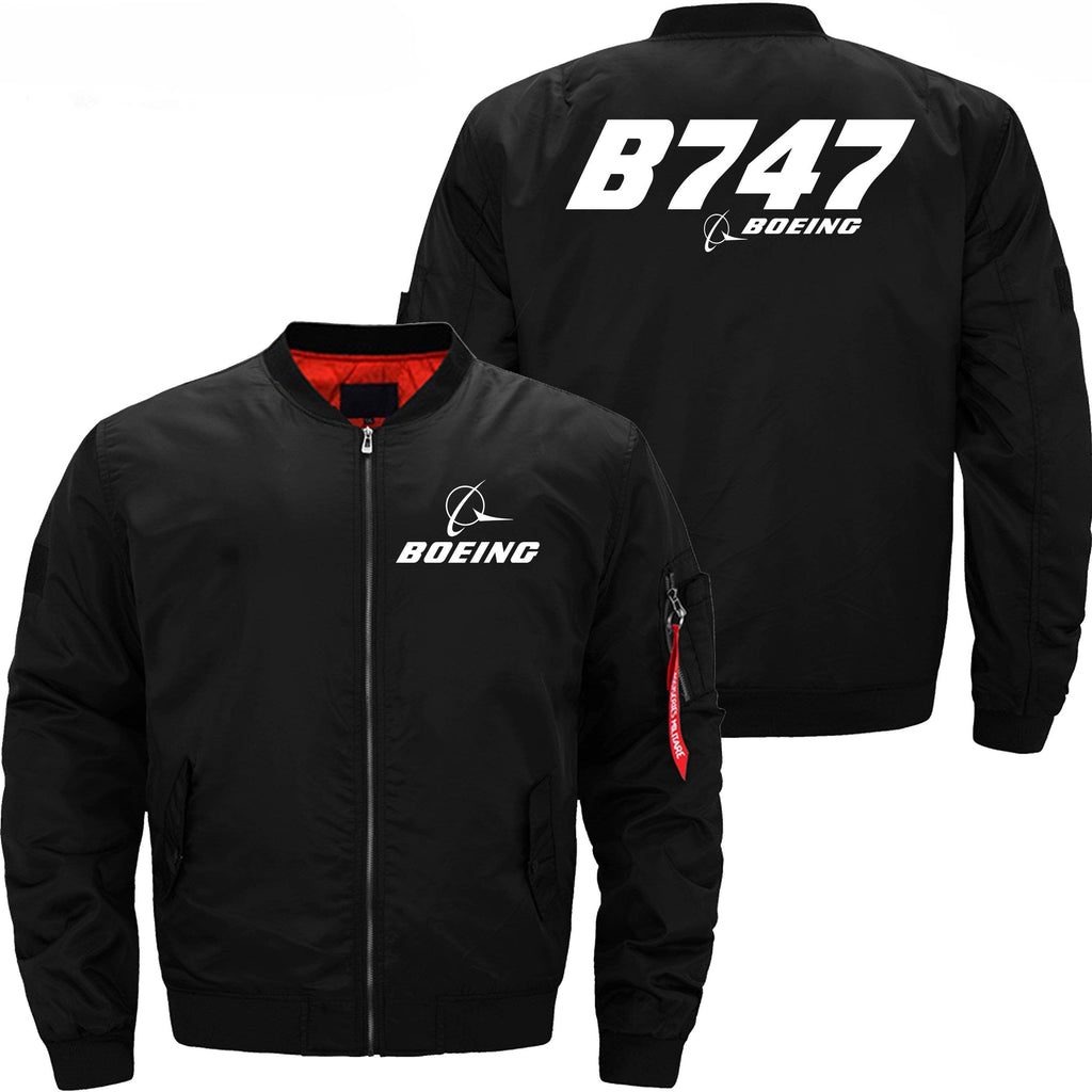 PilotX Jacket Black thin / XS Boeing 747 -US Size