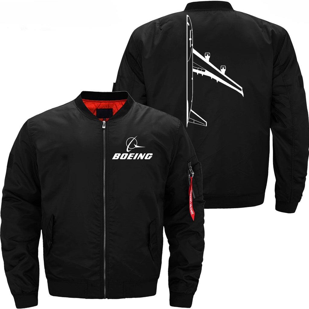 PilotX Jacket Black thin / XS Boeing 747 Side View -US Size