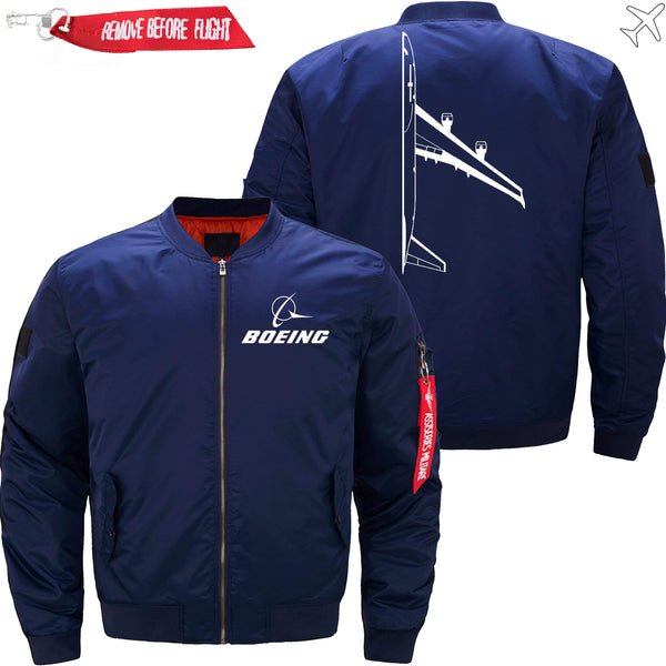PilotX Jacket Dark blue thin / XS Boeing 747 Side View -US Size