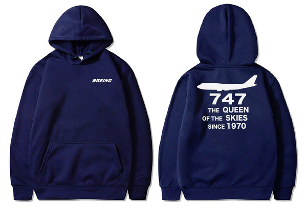 B747 THE QUEEN OF THE SKIES SINCE 1970 DESIGNED PULLOVER - THE AV8R