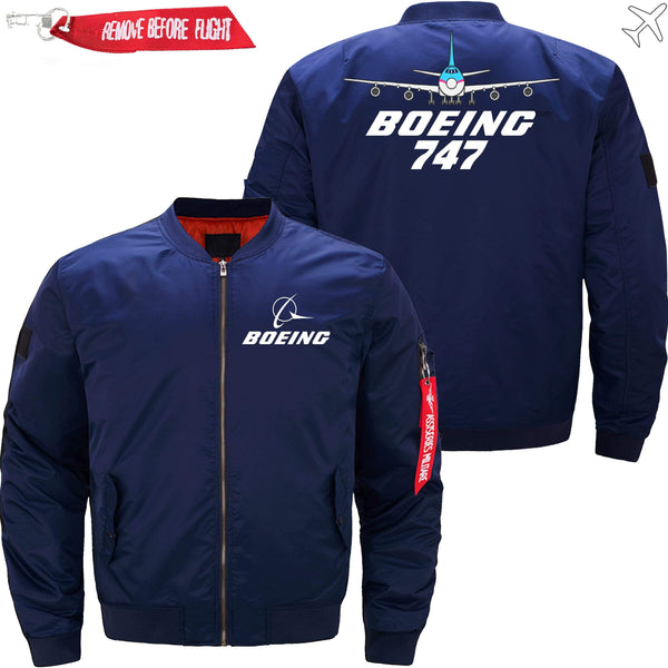 PilotX Jacket Dark blue thin / XS Boeing 747 With Aircraft -US Size