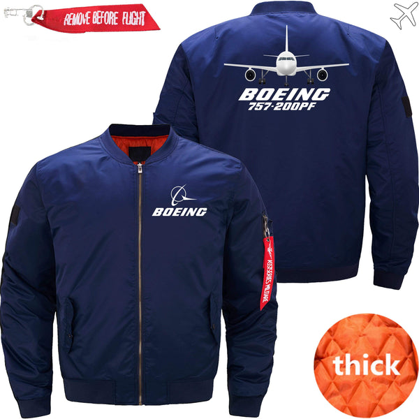 PilotX Jacket Dark blue thick / XS Boeing 757-200PF with Aircraft -US Size