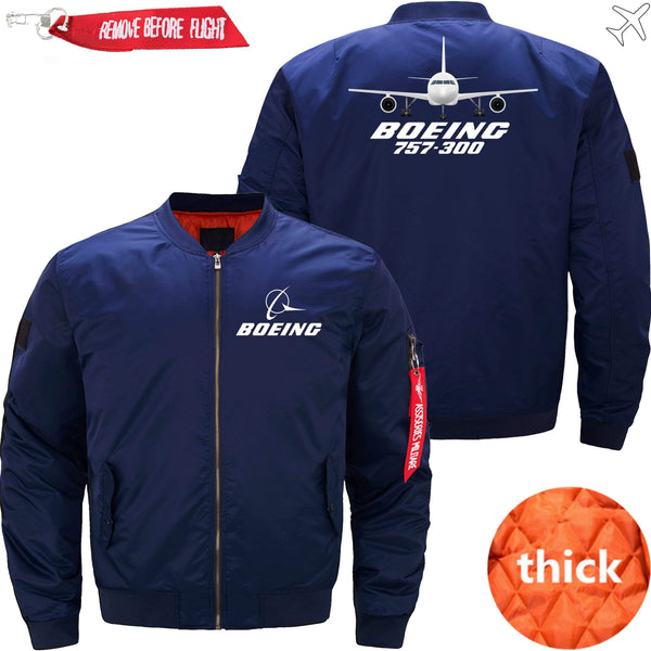 PilotX Jacket Dark blue thick / XS Boeing 757-300 with Aircraft -US Size