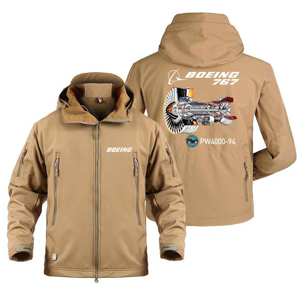 B767 PW 400-94 DESIGNED MILITARY FLEECE - Sand / S -