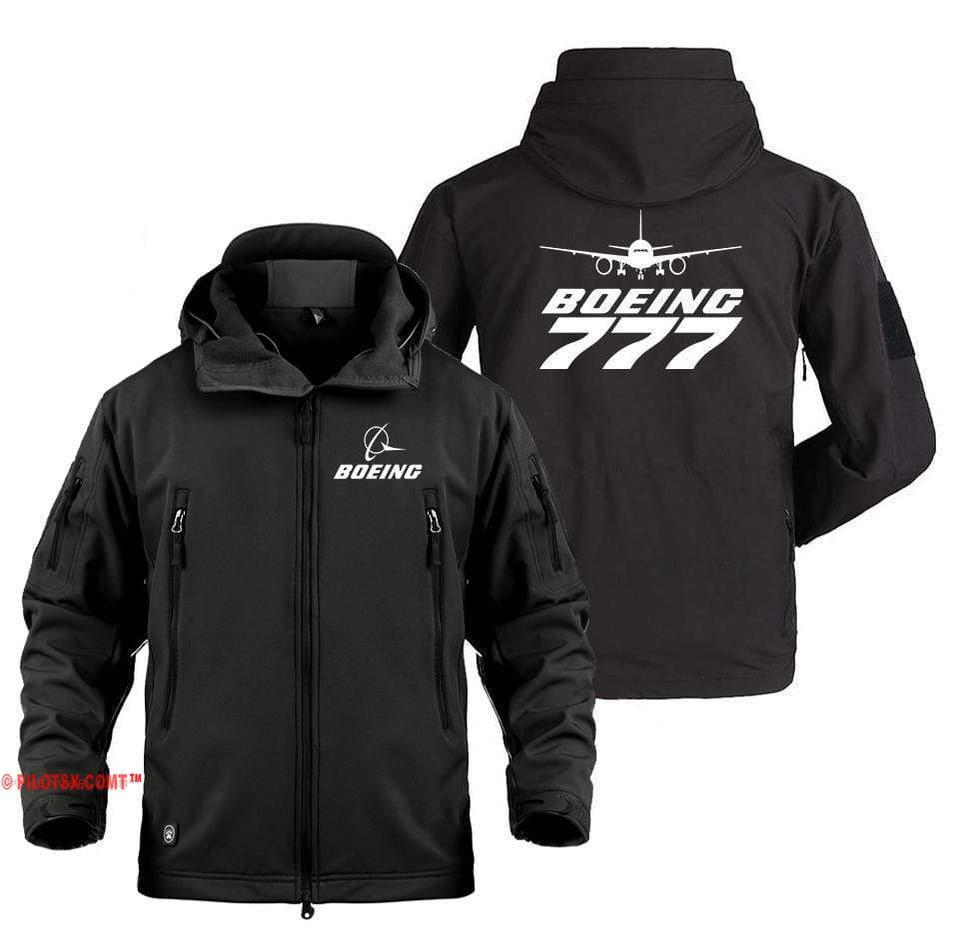 AIRPLANE LOVER Military Fleece Black / S Boeing 777