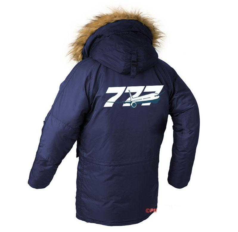 B777 DESIGNED WINTER N3B PUFFER COAT - Dark blue / XS - N3B
