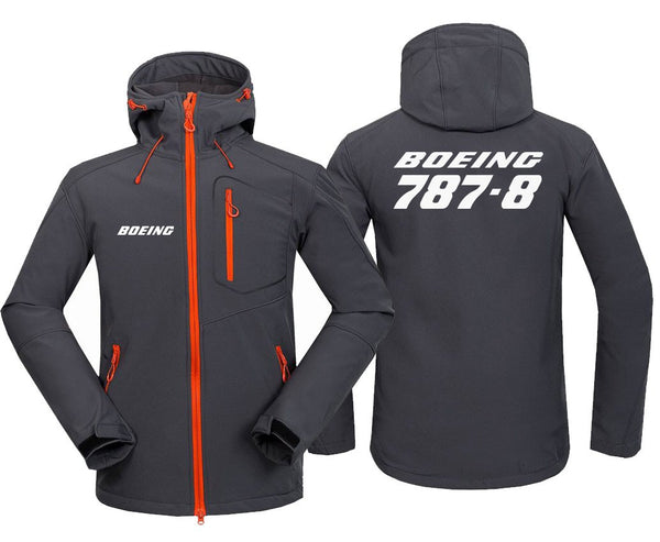 B787-8 DESIGNED FLEECE - Dark Gray / S - Hoodie Jacket