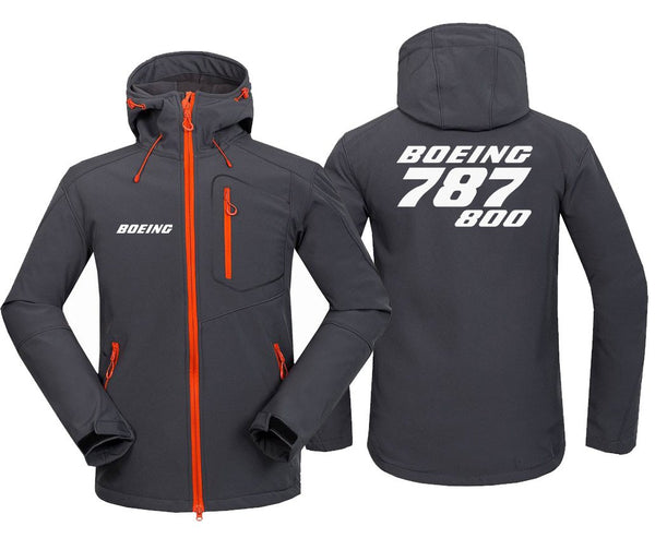B787 800 DESIGNED FLEECE - Dark Gray / S - Hoodie Jacket