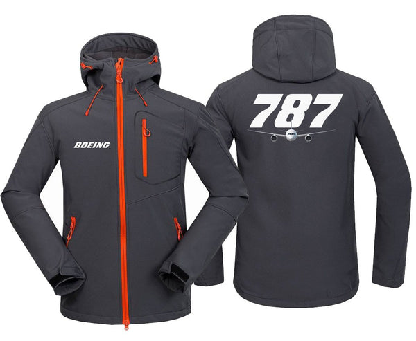 B787 DESIGNED FLEECE - Dark Gray / S - Hoodie Jacket