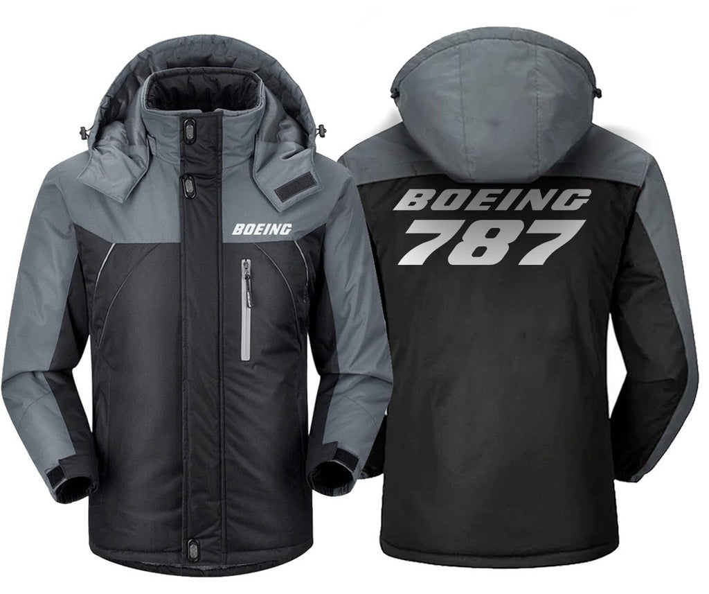 B787 DESIGNED WINDBREAKER - Black Gray / XS - Windbreaker