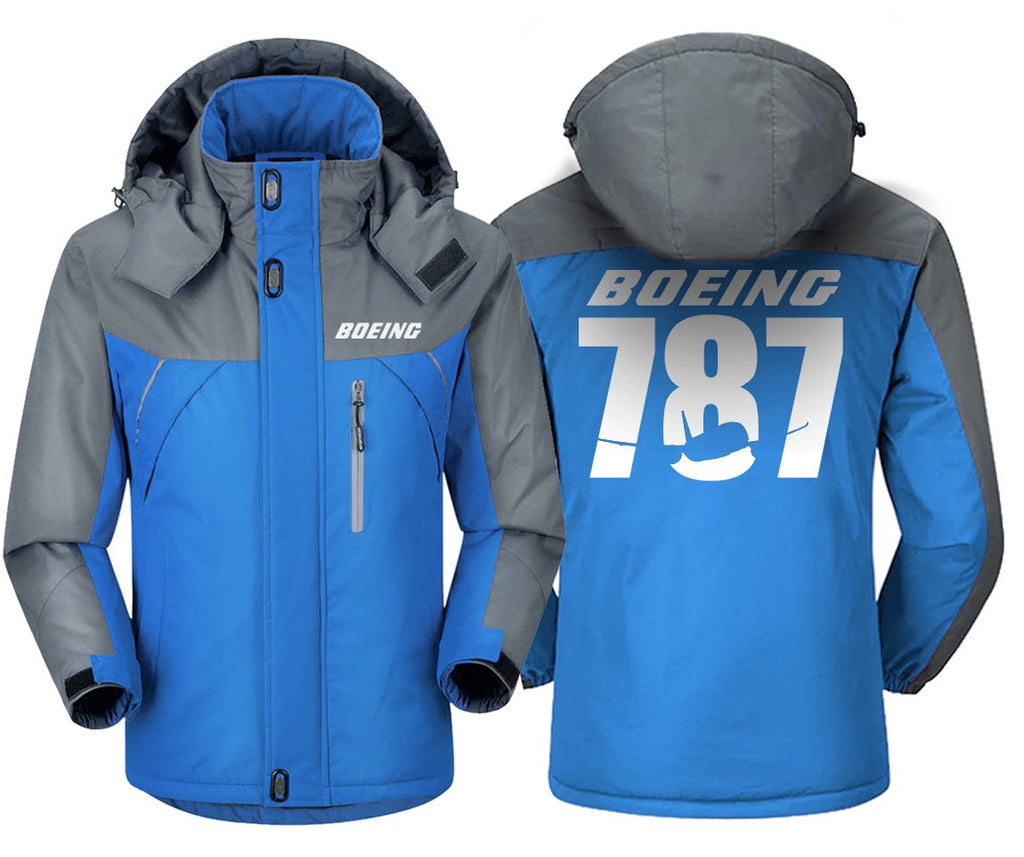 B787 DESIGNED WINDBREAKER - Blue Gray / XS - Windbreaker