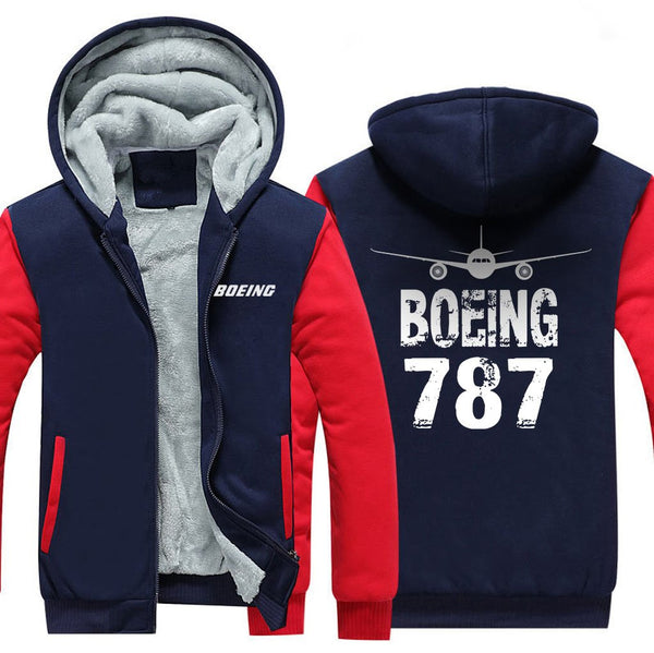 B787 FADE DESIGNED ZIPPER SWEATERS - Red / S - Hoodies