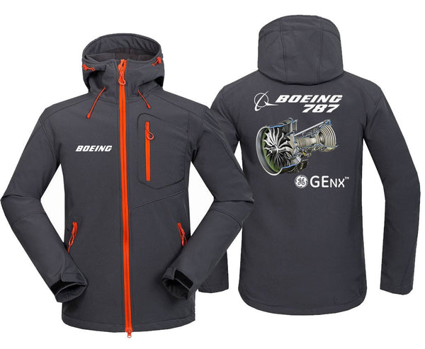 B787 GENX DESIGNED FLEECE - Dark Gray / S - Hoodie Jacket