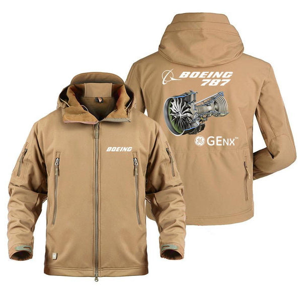 B787 GENX DESIGNED MILITARY FLEECE - Sand / S - Military