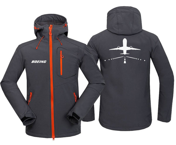 B787 RUNWAY DESIGNED FLEECE - Dark Gray / S - Hoodie Jacket
